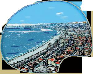 Paysage de la promenade des Anglais à Nice